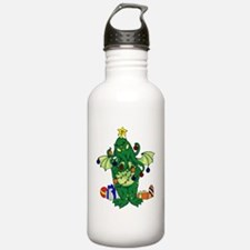 Christmas_Chtulhu_canv Water Bottle