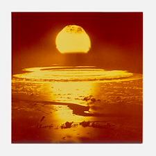 Bikini Atoll atomic bomb explosion 19 Tile Coaster