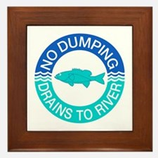 No Dumping Drains To River, New Jersey (US) Framed