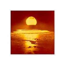 "Bikini Atoll atomic bomb ex Square Sticker 3"" x 3"""