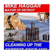 Mike Haggar for Mayor Tile Coaster