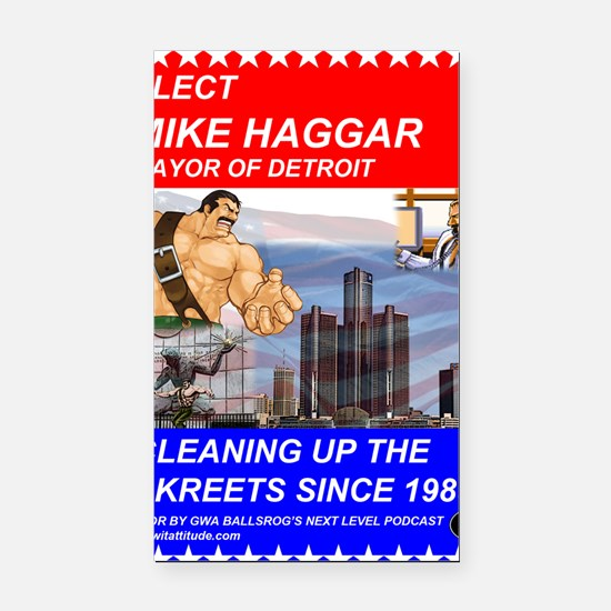 Mike Haggar for Mayor Rectangle Car Magnet