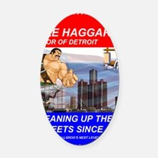 Mike Haggar for Mayor Oval Car Magnet
