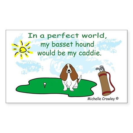 basset hound Sticker (Rectangle)