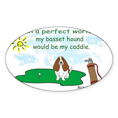 basset hound Sticker (Oval)