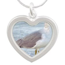 Seagull Silver Heart Necklace