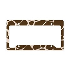 Giraffe Print Animal Pattern License Plate Holder