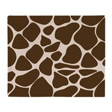 Giraffe Print Animal Pattern Throw Blanket