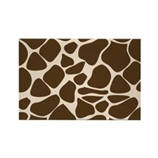 Giraffe Print Animal Pattern Rectangle Magnet
