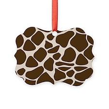 Giraffe Print Animal Pattern Ornament