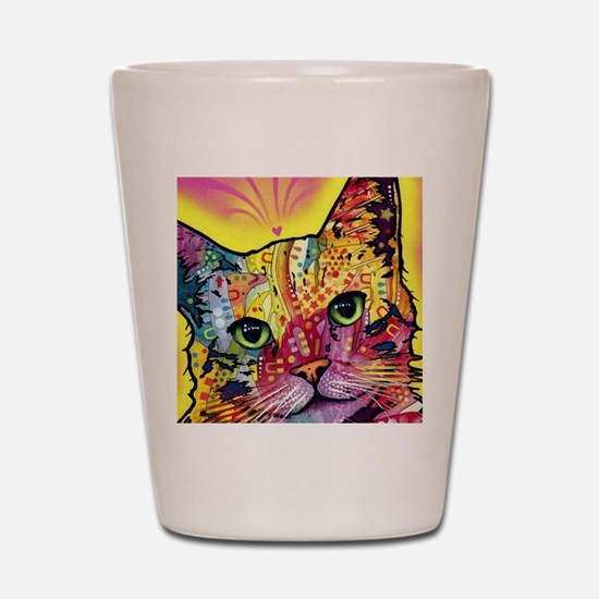 Psychadelic Cat Shot Glass