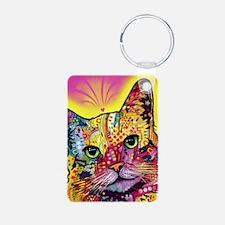 Psychadelic Cat Keychains