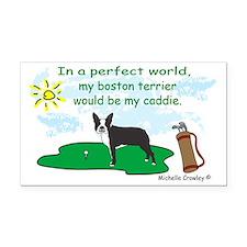 boston terrier Rectangle Car Magnet