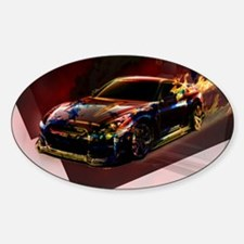 Abstract GTR Sticker (Oval)