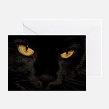 Sexy Black Cat Greeting Card