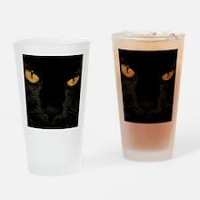 Sexy Black Cat Drinking Glass