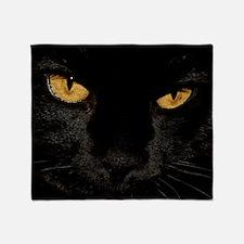 Sexy Black Cat Throw Blanket
