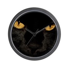 Sexy Black Cat Wall Clock