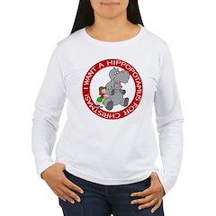 Hippopotamus For Christmas T-Shirt
