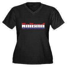 Holland Women's Plus Size V-Neck Dark T-Shirt