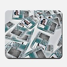 Biometric identity cards, artwork Mousepad