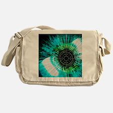 Biometric eye scan Messenger Bag