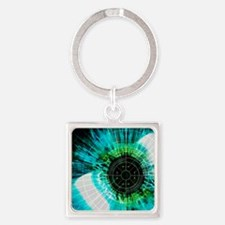 Biometric eye scan Square Keychain
