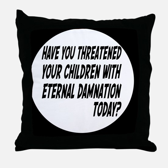 damnationbutton Throw Pillow