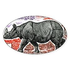 1972 Cambodia Javan Rhino Postage S Decal