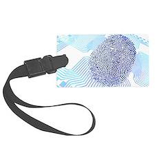 Biometric fingerprint scan, artw Luggage Tag