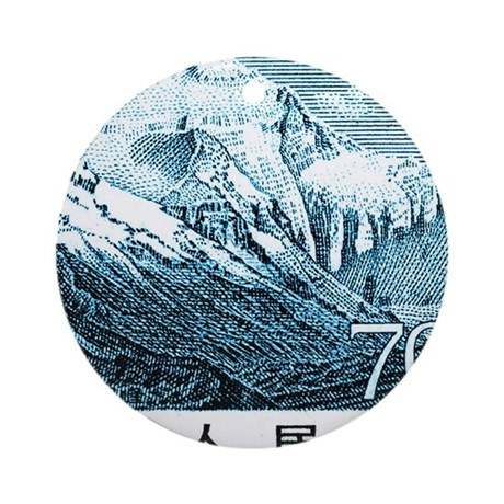 1983 China Mount Everest Postage St Round Ornament