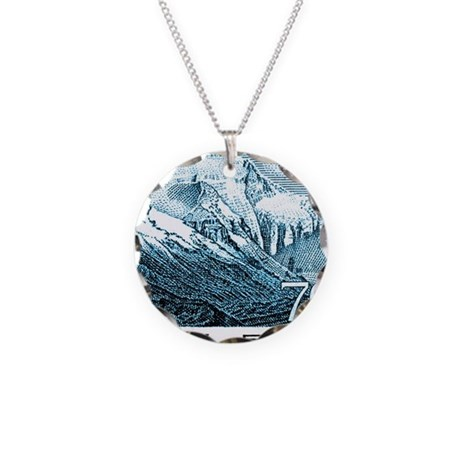 1983 China Mount Everest Pos Necklace Circle Charm