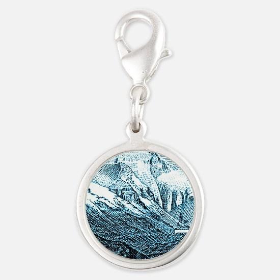 1983 China Mount Everest Posta Silver Round Charm