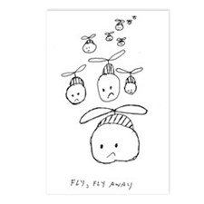 Fly, fly away Postcards (Package of 8)