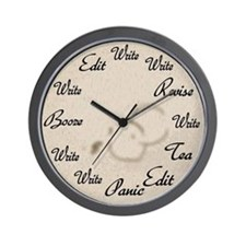 Writer's Clock Wall Clock