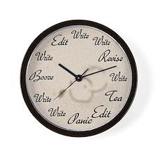 Writer's Clock Wall Clock