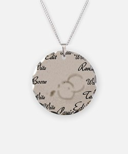 Writer's Clock Necklace