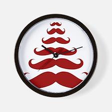 Merry Moustache Wall Clock