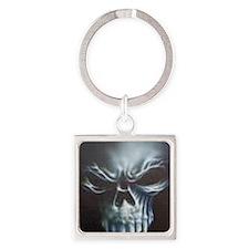 Skull 2 Square Keychain