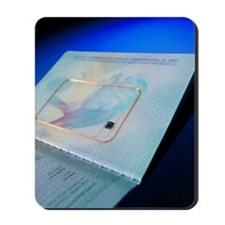 Biometric passport chip Mousepad