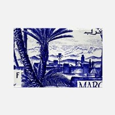 1947 Morocco Marrakesh Postage St Rectangle Magnet
