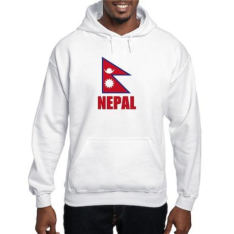 Nepal Flag Hooded Sweatshirt