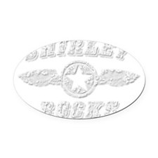 SHIRLEY ROCKS Oval Car Magnet