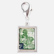 1931 French Sudan Sudanese W Silver Portrait Charm