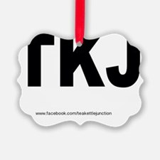 TKJ (white) Oval Sticker Ornament