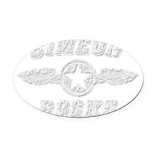 SIMEON ROCKS Oval Car Magnet