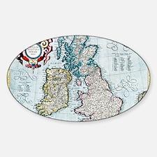 16th century map of the British Isl Decal