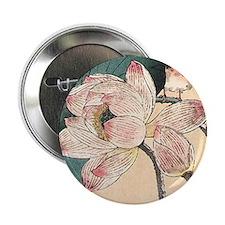 """Botanical Lotus Flower 2.25"""" Button"""