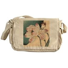Botanical Lotus Flower Messenger Bag