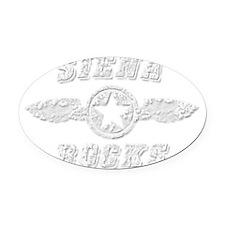 SIENA ROCKS Oval Car Magnet
